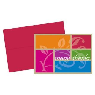 Color Block Thank You Note Cards