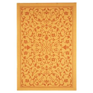 Safavieh Courtyard 2098 Indoor/Outdoor Area Rug   Gold   CY2098 3201 3, 2.7 x 5