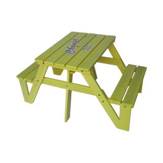 Kids Picnic Table   Yellow Multicolor   MM20322