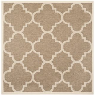 Safavieh Indoor/ Outdoor Courtyard Brown Rug (710 Square)