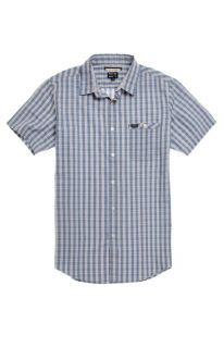Mens Rvca Shirt   Rvca Lender Short Sleeve Woven Shirt