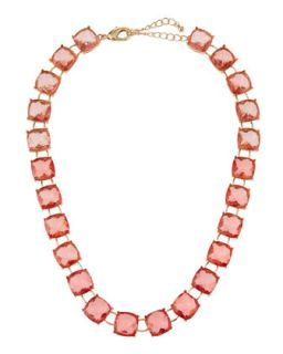 Ombre Station Necklace, Pink/Peach