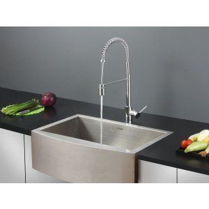 Ruvati RVC2451 Combo Stainless Steel Kitchen Sink and Chrome Faucet Set