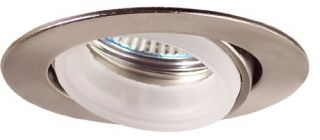 Elco Lighting E233N Recessed Lighting Kit, 2 Low Voltage Mini Housing amp; Gimbal Ring Trim Kit Nickel