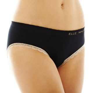 THE BODY Elle Macpherson Intimates Seamless Bikini Panties, Black