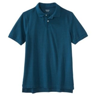 Mens Classic Fit Polo Shirt Atlantis blue turquoise L
