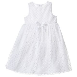 TEVOLIO Infant Toddler Girls Empire Dress   White 18 M