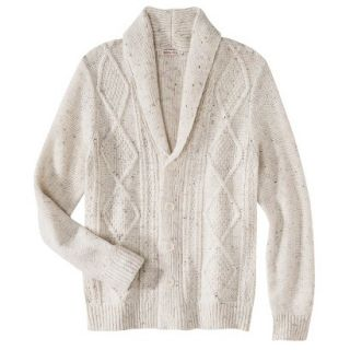 Merona Mens Shawl Collar Cardigan   Oatmeal Flecks L