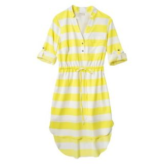Merona Womens Drawstring Shirt Dress   Striped   XL