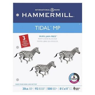Hammermill Tidal MP Copy 3 Hole Punched Paper, 92 Brightness, 20 lb   White