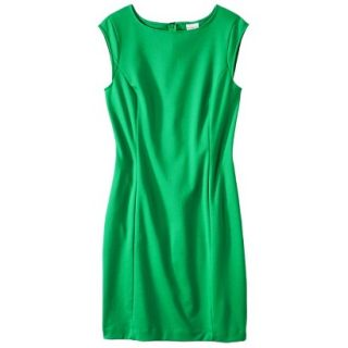 Merona Womens Ponte Sheath Dress   Mahal Green   XXL
