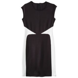 Mossimo Womens Colorblock Scuba Dress   Black L