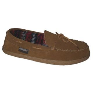 Mens Muk Luks Berber Suede Moccasin Slipper  Tan 13