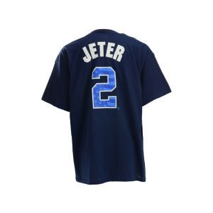 New York Yankees Jeter Majestic MLB Proud Fan Player T Shirt