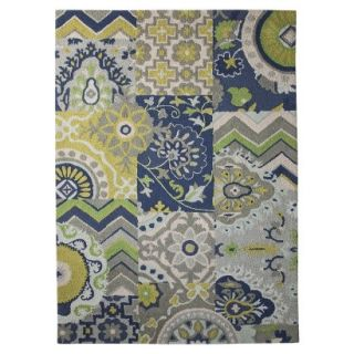 Threshold Patchwork Area Rug   Blue (7x10)