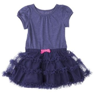 Cherokee Infant Toddler Girls Tutu Dress   Nightfall Blue 3T