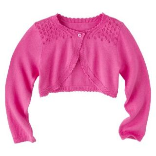 Infant Toddler Girls Long Sleeve Cardigan   Pink 4T
