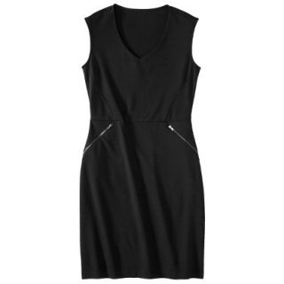Mossimo Womens Ponte Sleeveless Dress w/ Zippered Pockets   Black XS