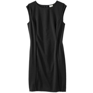 Merona Petites Sleeveless Ponte Sheath Dress   Black LP