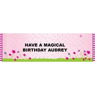 Fairy Personalized Birthday Banner