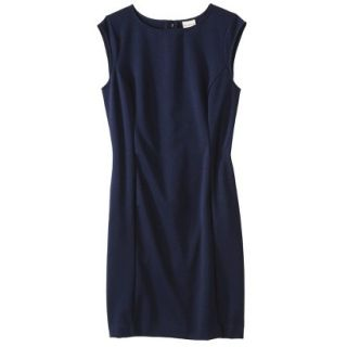 Merona Petites Sleeveless Ponte Sheath Dress   Navy Blue XLP