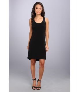 Calvin Klein S/L High Low Shirt Matte Jersey Dress Womens Dress (Black)