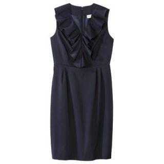 Merona Petites Sleeveless Sheath Dress   Blue 12P