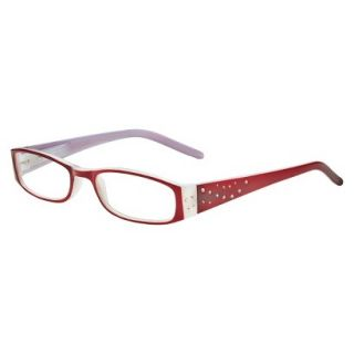 ICU Crystal Rectangle Rhinestone Reading Glasses With Sparkle Case   +2.5