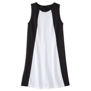 Mossimo Womens Colorblock Shift Dress   Black/Fresh White XS