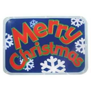 LED Battery Operated Sign Merry Christmas   Red (15)