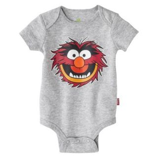 Disney Newborn Boys Animal Bodysuit   Grey 12 18 M