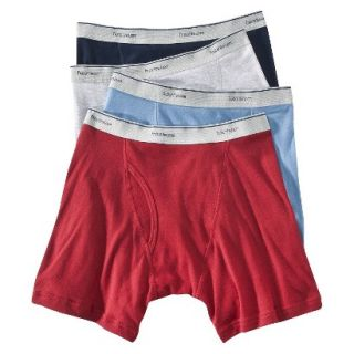 Fruit of the Loom Mens Boxer Briefs 4 Pack   Assorted Colors M