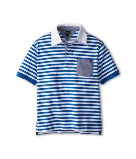 Tommy Hilfiger Kids Oliver S/S Rugby Polo Boys Short Sleeve Pullover (Blue)