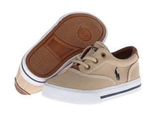 Polo Ralph Lauren Kids Vulcanized Vaughn SP12 Boys Shoes (Khaki)