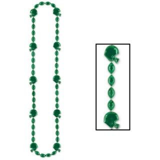 Green Football Beads Necklace