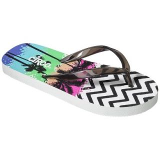 Girls Circo Hester Flip Flop Sandals   Black/White M
