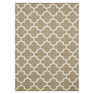 Maples Fretwork Area Rug   Tan (4x55)