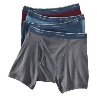 Fruit of the Loom Mens Low Rise Boxer Briefs 4 Pack   Assorted Colors M