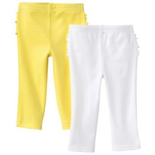 Just One YouMade by Carters Newborn Girls 2 Pack Pant   Yellow/White 18 M