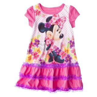 Disney Minnie Mouse Toddler Girls Nightgown   Pink 3T