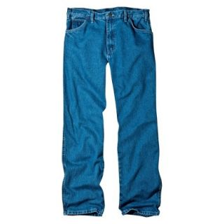 Dickies Mens Relaxed Fit Jean   Stone Washed Blue 44x32