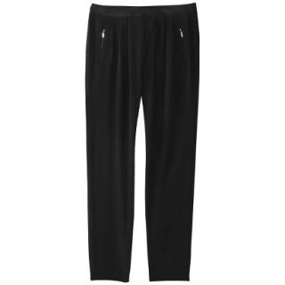 Mossimo Womens Drapey Pleat Pant   Black 12