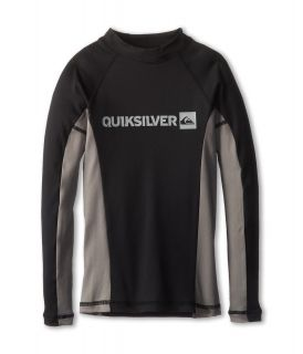 Quiksilver Kids Prime L/S Surf Shirt Boys Swimwear (Gray)