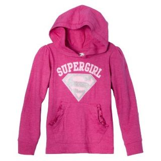 Supergirl Infant Toddler Girls Long Sleeve Hooded Tee   Pink 4T