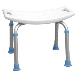 AquaSense Adjustable Bath and Shower Chair with Non Slip Seat, White