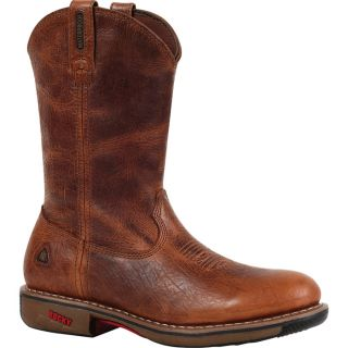 Rocky Ride 11In. Waterproof Western Boot   Palomino, Size 9 1/2 Wide, Model 4181