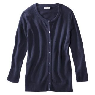 Merona Womens Ultimate 3/4 Sleeve Crew Neck Cardigan   Xavier Navy   XXL