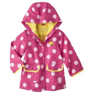 Just One You by Carters Infant Toddler Girls Polka Dot Raincoat   Pink 4T