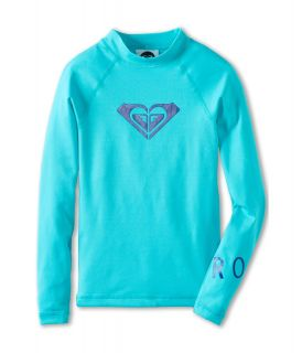 Roxy Kids Whole Hearted L/S Surf Shirt Girls Swimwear (Blue)