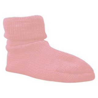 Womens MUK LUKS Cuff Slipper Sock W/ Anti Skid   Pink